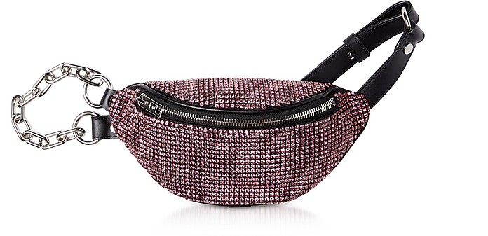 Rose Rhinestone Attica Soft Mini Fanny Crossbody - Alexander Wang