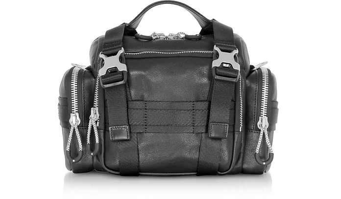 Black Leather Surplus Duffle Bag - Alexander Wang