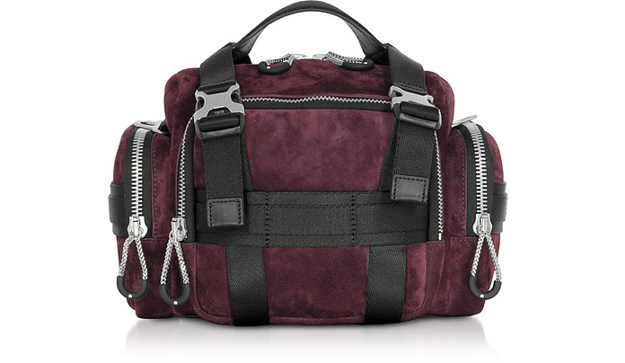 Burgundy Suede Surplus Duffle Bag - Alexander Wang