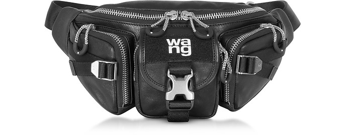Black Leather Surplus Fanny Pack - Alexander Wang