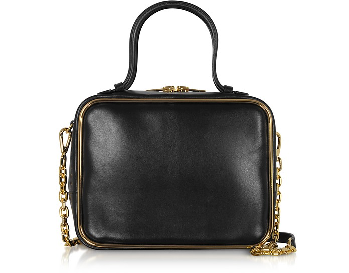 Black Leather Halo Large Satchel - Alexander Wang