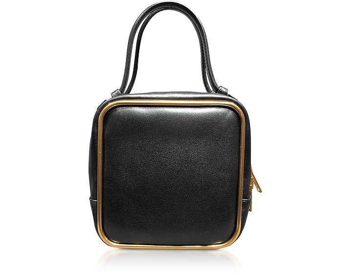 Black Leather Halo Top Handle Satchel Bag - Alexander Wang