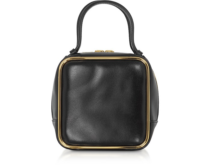 Black Leather Halo Top Handle Satchel Bag - Alexander Wang