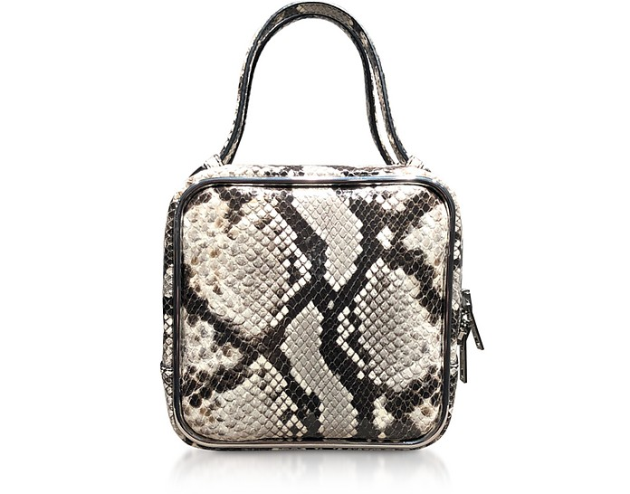Roccia Snake Print Halo Top Handle Satchel Bag - Alexander Wang
