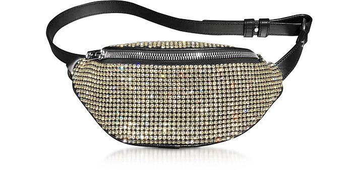 Yellow Rhinestone Attica Soft Mini Fanny Crossbody - Alexander Wang