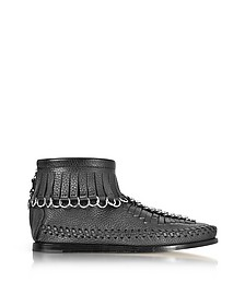 Montana Black Soft Pebble Leather Bootie - Alexander Wang
