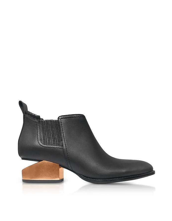 kori bottines talons mi hauts en cuir noir alexander wang 37 7 us 4 uk 37 eu sur forzieri. Black Bedroom Furniture Sets. Home Design Ideas