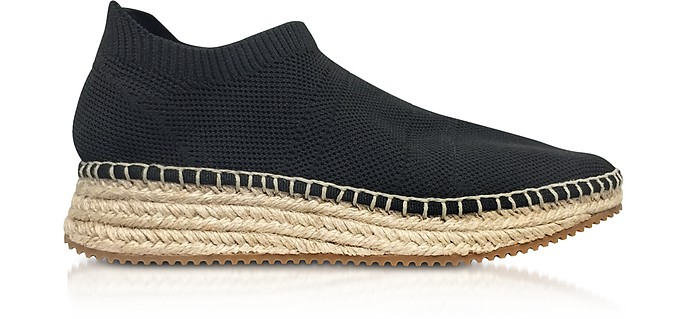 Dylan Black Knit Low Top Sneakers w/Jute Sole - Alexander Wang / アレキサンダーワン