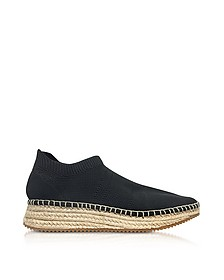 Dylan Black Knit Low Top Sneakers w/Jute Sole - Alexander Wang