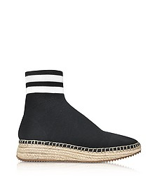 Dylan Black and White Knit High Top Sneakers w/Jute Sole - Alexander Wang
