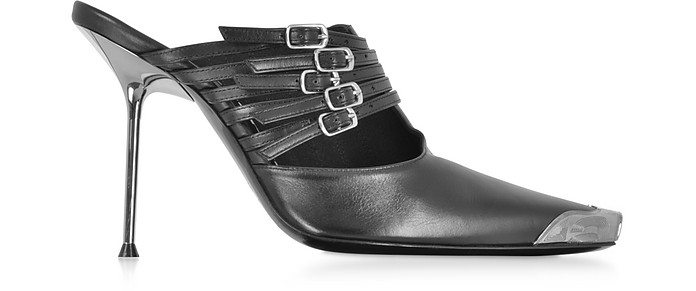 Minna Black Calf Leather High Heel Mules - Alexander Wang / アレキサンダーワン