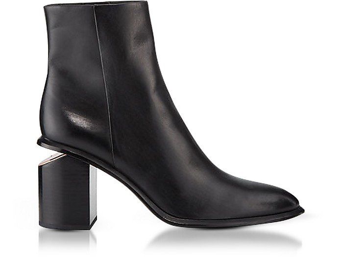 Anna Black Calf Leather Boots - Alexander Wang