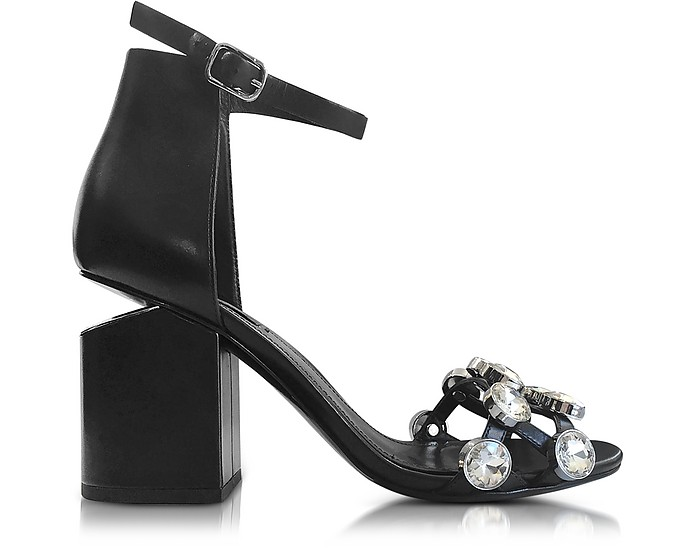 Jeweled Abby Leather Sandals - Alexander Wang