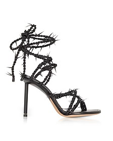 Black Lexie Barbed Wire High Heel Sandals - Alexander Wang