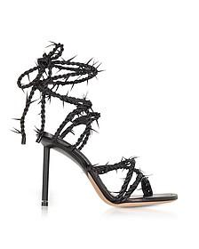 Lexie Barbed Wire Sandali in Pelle Nera - Alexander Wang