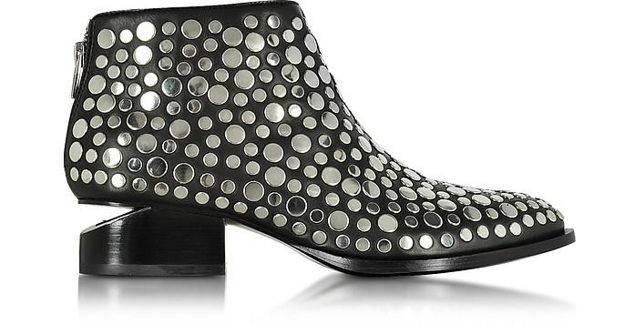 Kori Black Leather Ankle Boot w/Studs - Alexander Wang