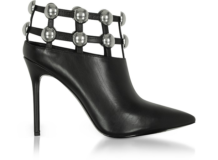 Tina Black Leather Cage Booties - Alexander Wang / アレキサンダーワン