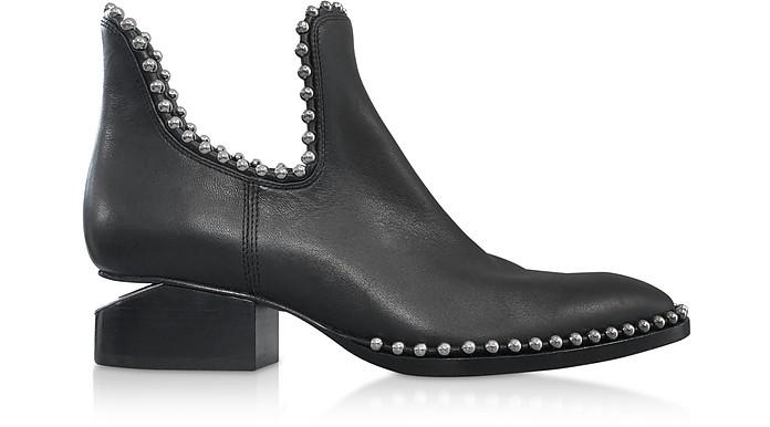 Kori Black Leather Booties w/Bead Ball - Alexander Wang