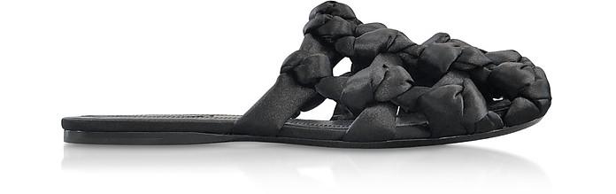 Black Amelia Knot Slide Sandals - Alexander Wang
