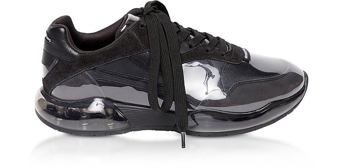 Black Suede&Mesh Stadium Sneakers - Alexander Wang