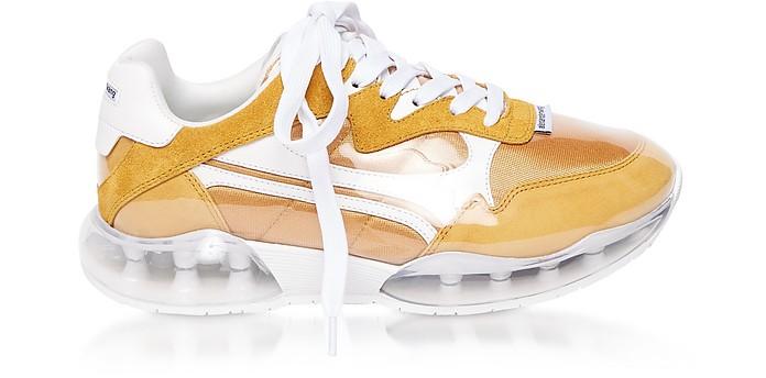Mineral Yellow Suede&Mesh Stadium Sneakers - Alexander Wang