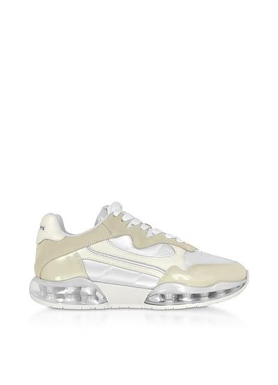 White Suede&Mesh Stadium Sneakers - Alexander Wang