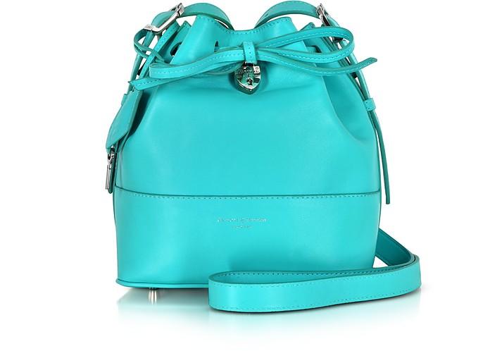 Padlock Aqua Bucket Bag - Aspinal of London