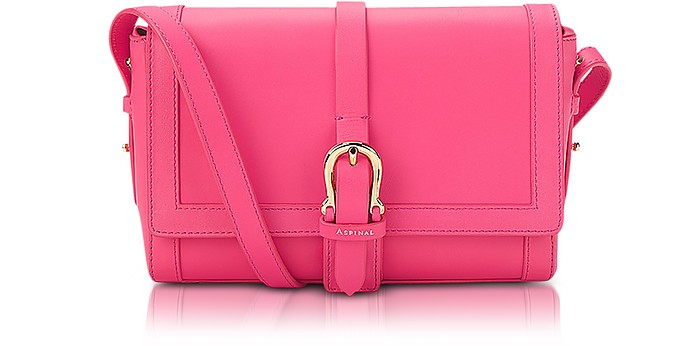 Neon Pink Mini Shoulder Buckle Bag - Aspinal of London