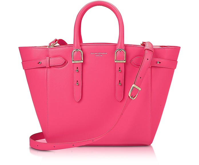 Neon Pink Merylebone Medium Tote Bag - Aspinal of London