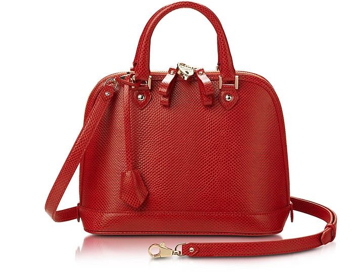 London Borsa Aspinal Stampa Forzieri Hepburn Of Rossa Lizard In Su Pelle 8qCYwYdx