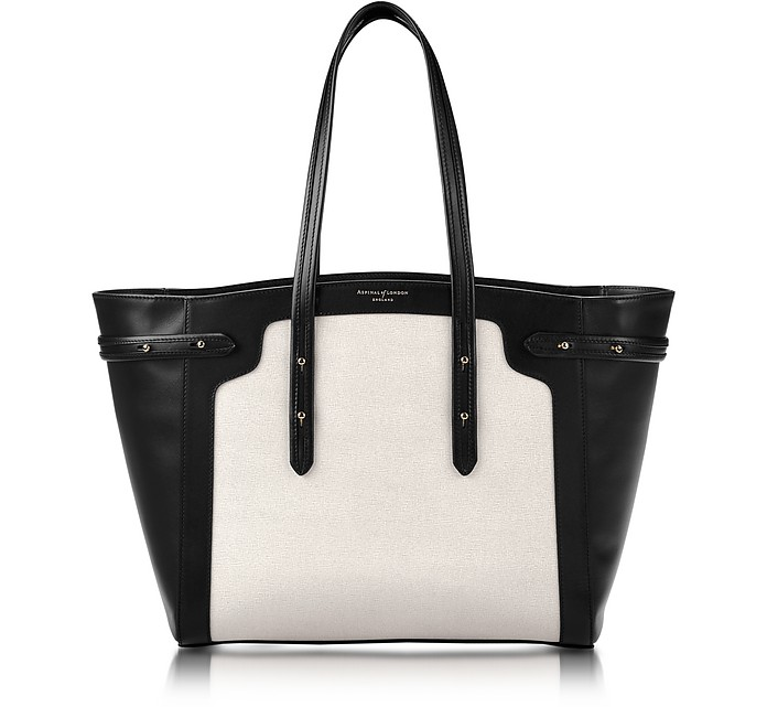 Marylebone Light Saffiano Monochrome Mix Tote - Aspinal of London
