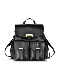 Letterbox Black Smoooth Leather Rucksack