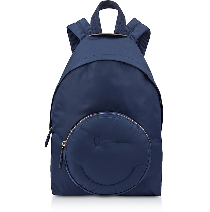 Marine Nylon Chubby Wink Backpack  - Anya Hindmarch