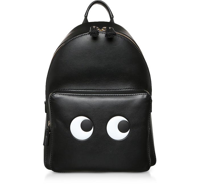 Black Circus Mini Eyes Backpack  - Anya Hindmarch
