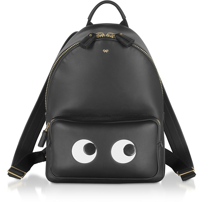 Black Circus Mini Eyes Backpack  - Anya Hindmarch