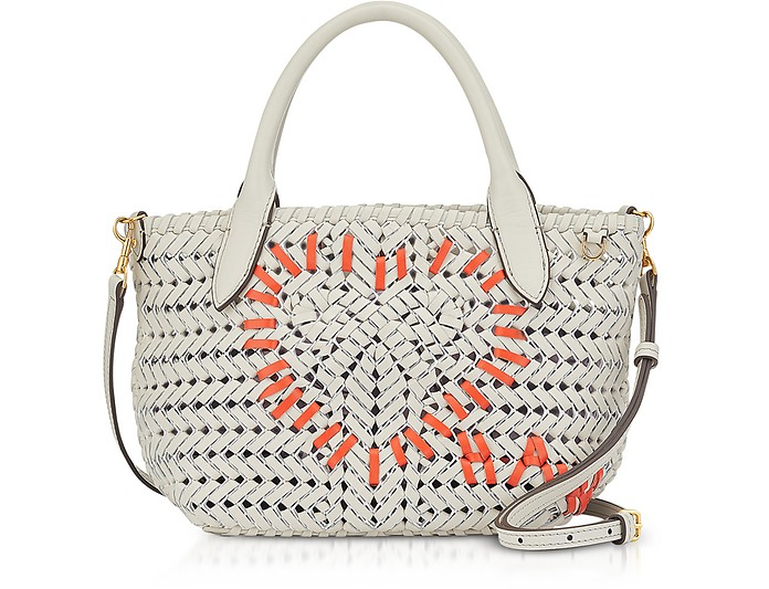 Chalk Calf Leather The Neeson Mini Heart Tote  - Anya Hindmarch