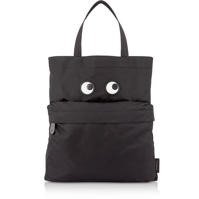 Black Nylon Eye Tote Bag - Anya Hindmarch