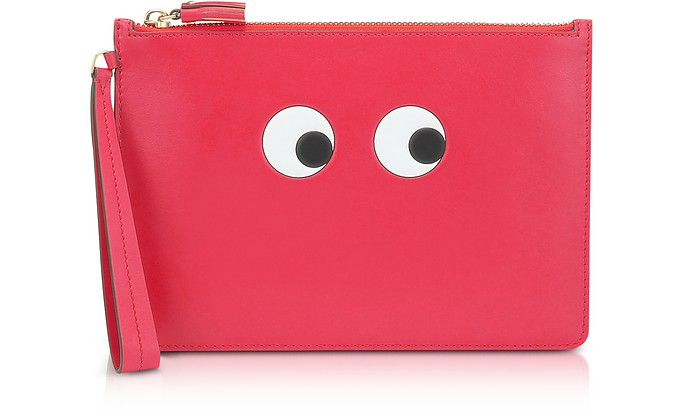 Lollipop Circus Leather Eyes Zip-Top Pouch - Anya Hindmarch
