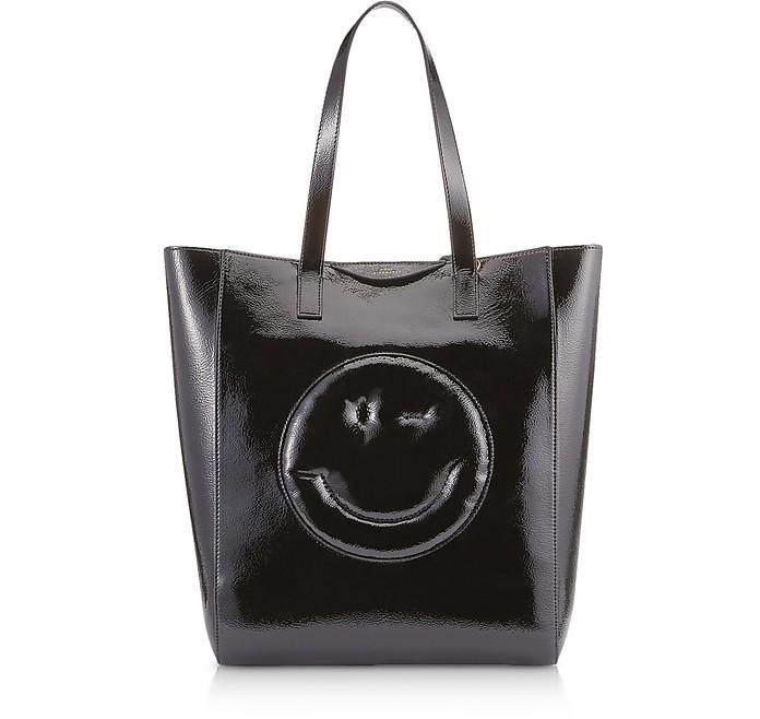 Black Naplak Chubby Wink Tote Bag  - Anya Hindmarch