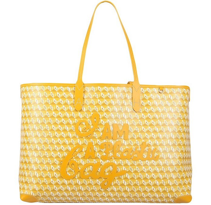 """Tote Bag With """"I Am A Plastic Bag"""" Pattern - Anya Hindmarch"""
