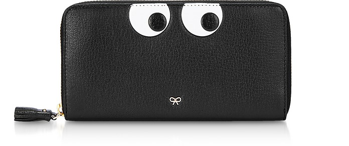 Black Eyes Large Zip-Around Wallet - Anya Hindmarch