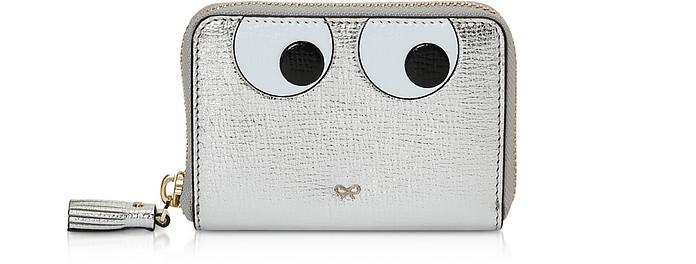 Silver Eyes Small Zip-Around Wallet - Anya Hindmarch