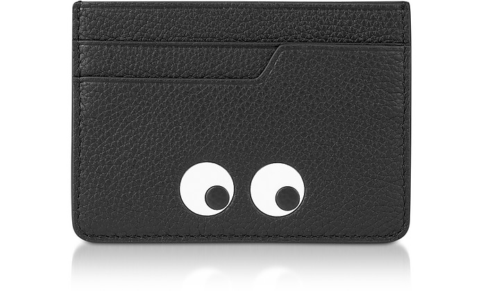 Porta Carte di Credito Nero Eyes - Anya Hindmarch