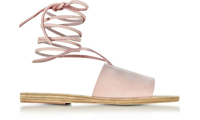 Christina Pink Nubuck Sandal - Ancient Greek Sandals