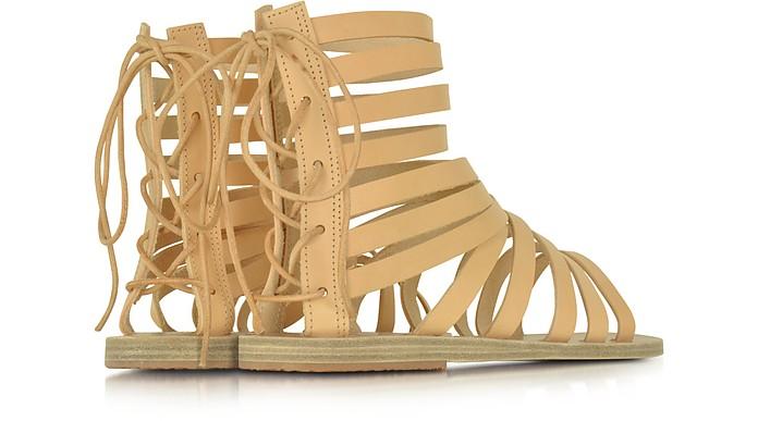 1f8cb0fc48c133 Ancient Greek Sandals Galatia Natural Leather Flat Sandal 37 IT EU ...