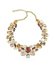 Multicolor Crystal Necklace - AZ Collection