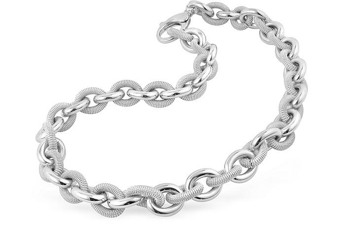 Silvertone Metal Cable Chain Necklace - AZ Collection