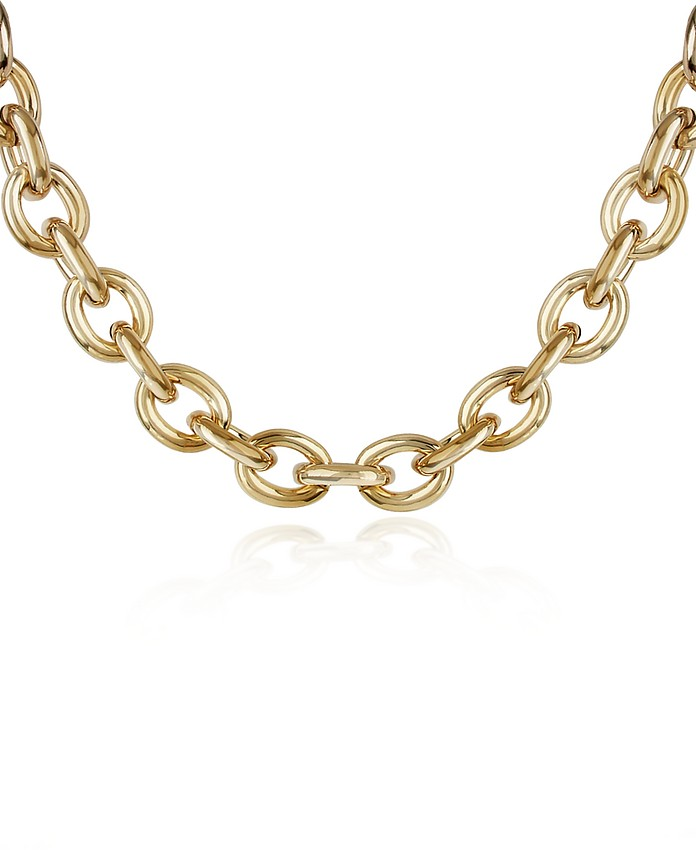 Gold Plated Chain Toggle Necklace - AZ Collection