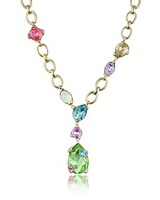 Multicolor Drop Necklace - AZ Collection