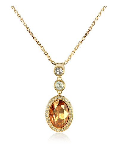 Gold-plated Triple Drop Necklace - AZ Collection